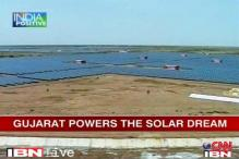 Gujarat solar project produces power, saves water