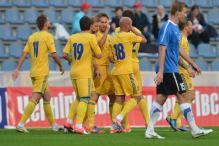 Ukraine beat Estonia 4-0 in Euro warm-up