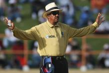 Umpire Billy Doctrove calls it a day