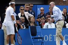 Nalbandian's anger leaves line judge bloodied