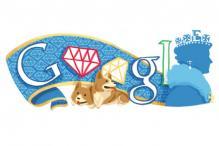 Google doodles the Queen's Diamond Jubilee