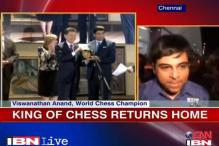 World chess champion Anand gets hero's welcome