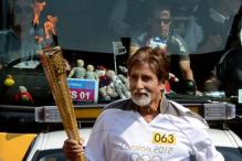 Amitabh Bachchan carries London Olympic torch