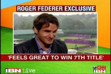 Roger Federer on 'seventh' heaven after win