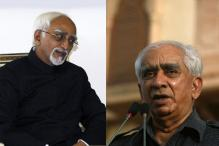 JD-U to back Jaswant Singh, Left Hamid Ansari