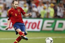 Spain medio Iniesta named best Euro 2012 player