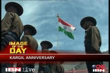 15-kg Tricolour hoisted at Kargil war memorial