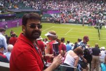 Mohanlal and Allu Arjun at the London Olympics