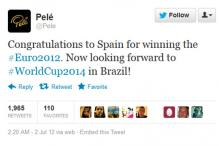 Twitter sees new record during Euro 2012 final