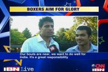 Boxers Vikas, Sumit not overawed by Olympics