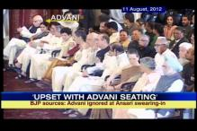 Advani ignored at Ansari's swearing in: BJP sources