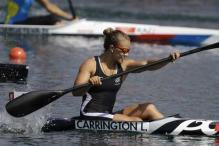 Lisa Carrington wins Olympic gold in K-1 200