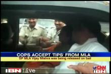 UP police caught accepting money from SP MLA