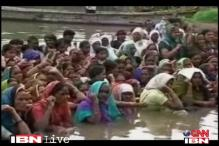 MP: Villagers protest in waist-deep water