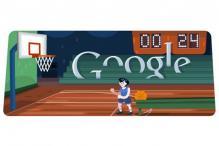 London 2012 basketball doodle: Shoot and score
