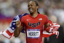 Aries Merritt of US wins 110-metre hurdles gold