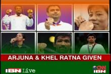 India's Olympic stars receive awards