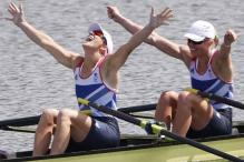 Britain win gold in women's double sculls