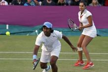 Paes-Sania crash out of mixed doubles