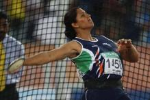 Poonia qualifies for discus final, Seema out