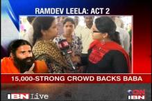 15,000-strong crowd backs Ramdev