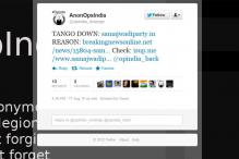Anonymous hackers take down Samajwadi Party website