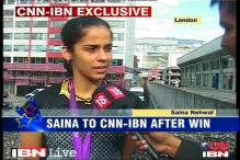 Can't believe I've won a medal, says Saina