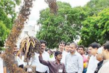 Hyderabad: Making sculptures out of metal scrap