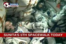 Sunita Williams undertakes her 5th spacewalk