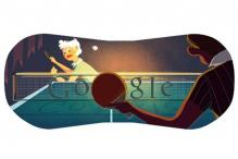 London 2012 table tennis Google doodle