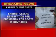 Cabinet clears SC/ST quota in job promotions