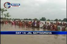 MP: Now, Indira Sagar protestors in neck-deep water