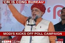 Modi starts Gujarat poll campaign with Cong bashing