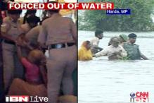 MP: Indira Sagar Dam protesters forced out of water