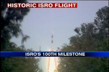ISRO's 100th mission sent, PM witnesses event