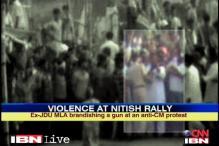 Bihar: Ex-JDU MLA attacks protesters at Nitish rally