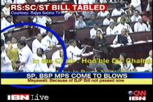 Watch: MPs fight, push each other in Rajya Sabha over quota