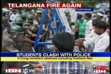 Telangana march: Violence at Osmania University