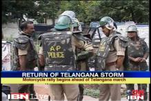 Live: Telangana march begins, police use force against mob