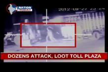 Watch: Gurgaon toll plaza attacked, looted by over 20 men