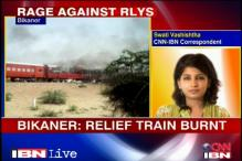 Rajasthan: Crowd burns 2 trains after accident