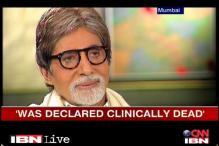 Was declared clinically dead: Amitabh Bachchan
