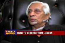 Lt General Brar to return from London today