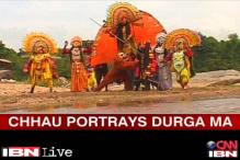 Chaau dancers come together to invoke Goddess Durga