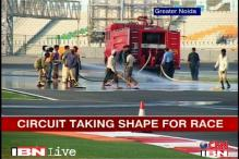 Indian GP organisers work on BIC ahead of the race