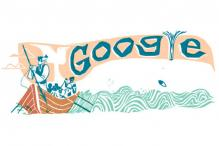 Herman Melville's Moby-Dick Google doodle
