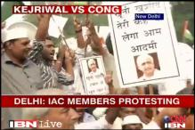 IAC activists clash outside Haryana CM's house