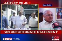 Jaitley's statements on judiciary unfortunate: Justice Khare