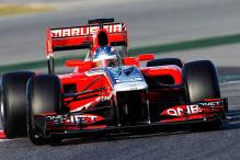 Marussia hand Chilton Abu Dhabi practice chance