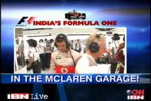 The hub of all activity: garage of the teams